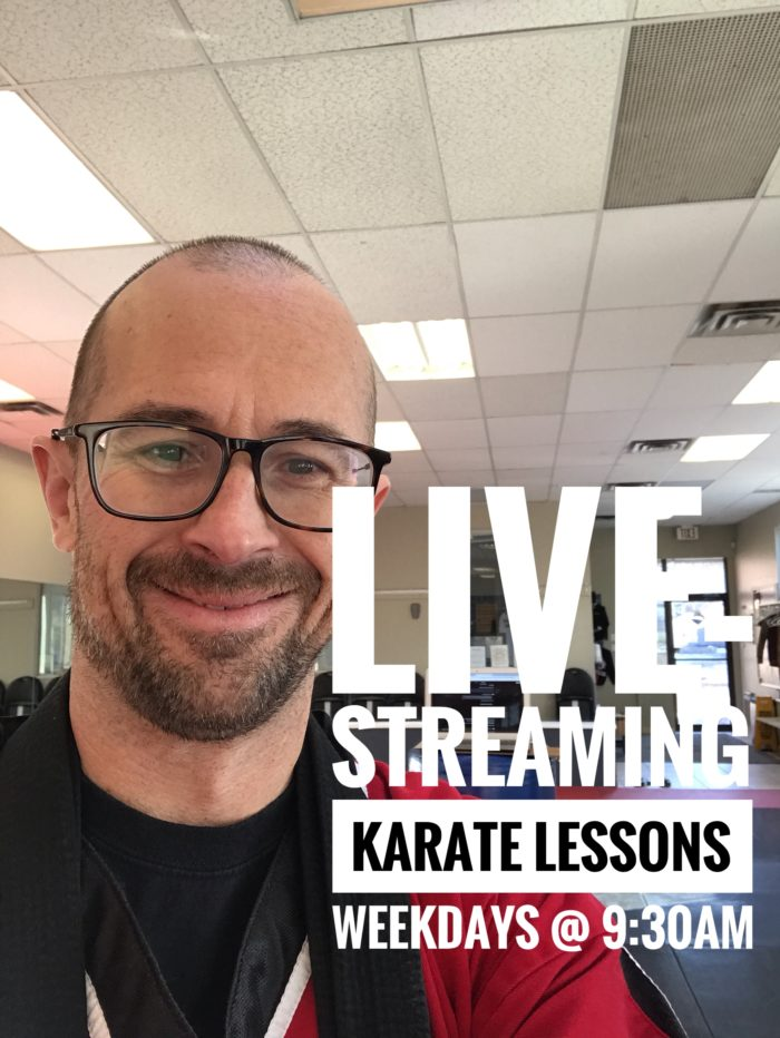 live streaming karate lessons presented by aurora family martial arts