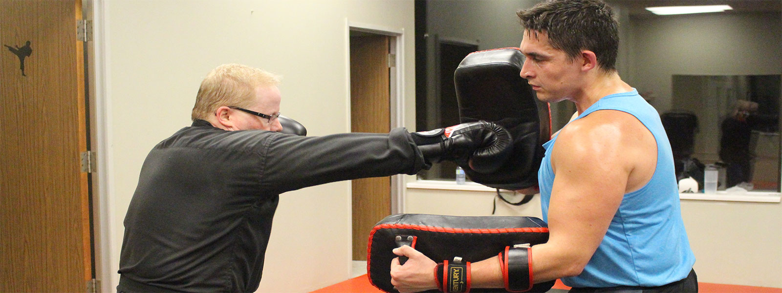 kickboxing lesson at aurora family martial arts