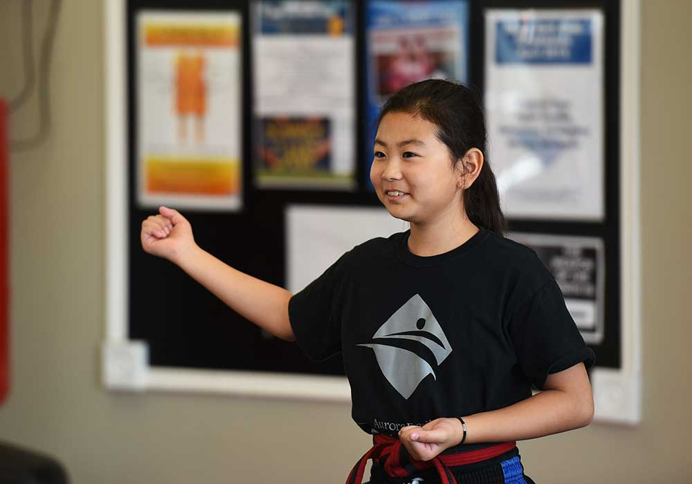 student of aurora family martial arts school