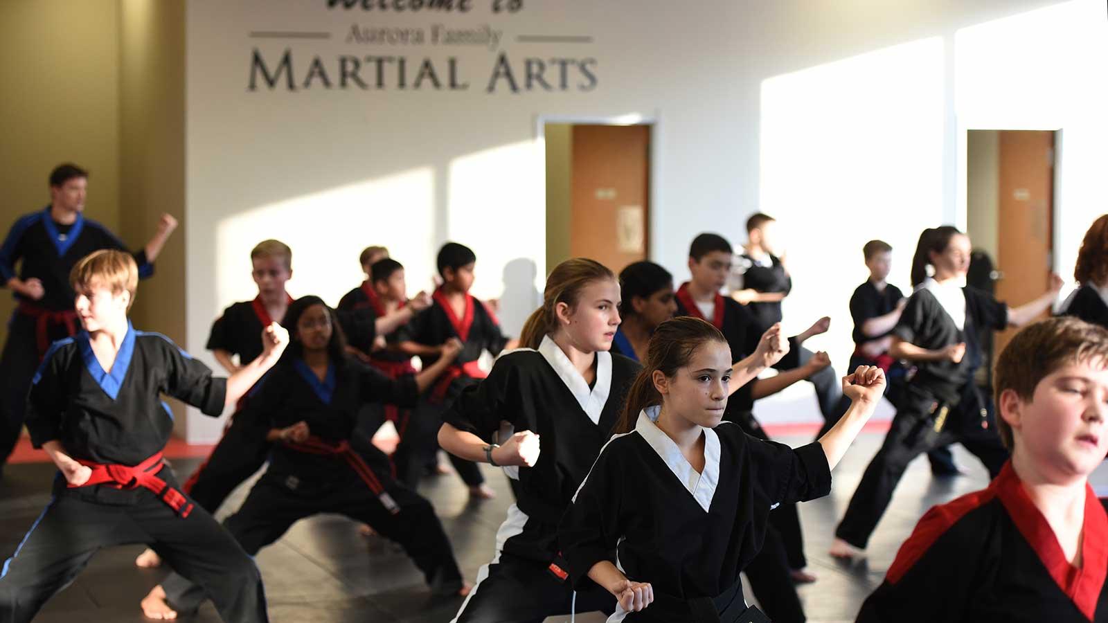 kids karate at aurora family martial arts
